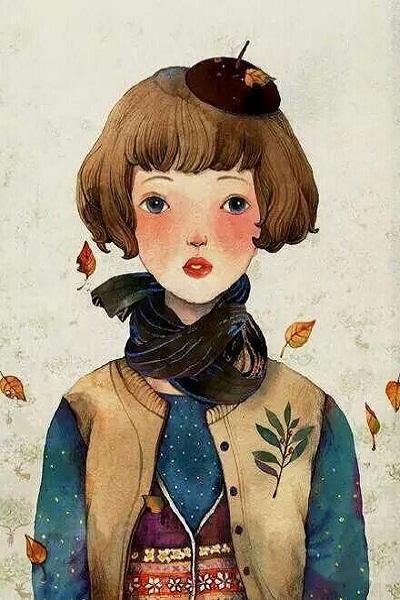 姐妹皮肤韩版手绘一人一张