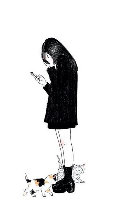个性卡通风黑白背景皮肤大全