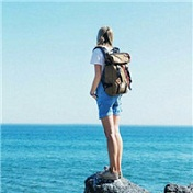 唯美海边女生背影意境头像大全