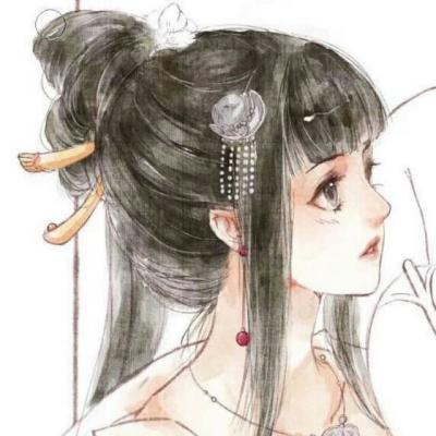 手绘古风女生唯美头像精选_唯美头像_剑速网